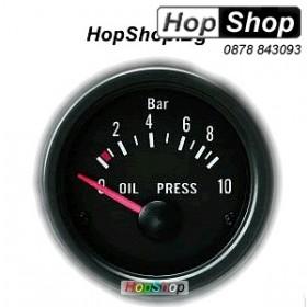 Измервателен уред за налягане на маслото - черен от HopShop.Bg.