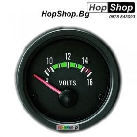 Измервателен уред за напрежението на акумулатора - черен от HopShop.Bg.