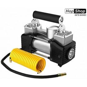 Компресор за гуми  с 2 бутала с диодна лампа -  ПРОМО !!! от HopShop.Bg.