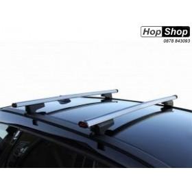 Багажник алуминиев за Hyundai Santa Fe 3 с рейлинги - Clop от HopShop.Bg.