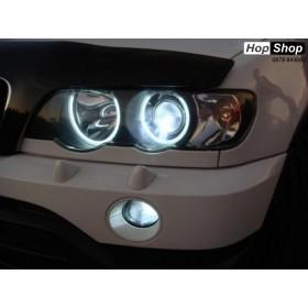 Ангелски Очи за BMW X5 E53 (1999-2005) - Бял цвят от HopShop.Bg.