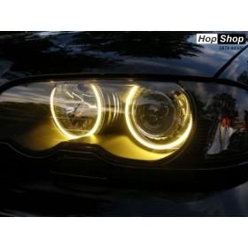 Ангелски Очи CCFL за БМВ E46 седан, комби (1998-2005) / купе (1998-2003) - Жълт цвят от HopShop.Bg.