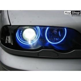 Ангелски Очи CCFL за БМВ E46 седан, комби (1998-2005) / купе (1998-2003) - Син цвят от HopShop.Bg.