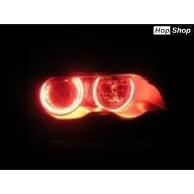 Ангелски Очи CCFL за БМВ E46 седан, комби (1998-2005) / купе (1998-2003) - Червен цвят от HopShop.Bg.