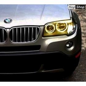 Ангелски Очи  CCFL за BMW X3 E83 (2004-2007) - Жълт цвят от HopShop.Bg.