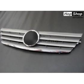 Решетка за Mercedes C203 Coupe (2000-2007) - 4 ребра хром от HopShop.Bg.