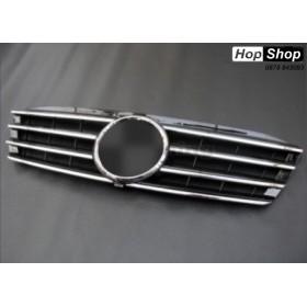 Решетка за Mercedes W203 (00-07) sedan - 4 ребра черна от HopShop.Bg.