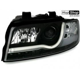 Кристални фарове за Ауди A4 B6 Lightbar Design (2001-2004) - черни от HopShop.Bg.
