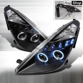 Кристални фарове Angel eyes TOYOTA CELICA T230 (99-05) - черни от HopShop.Bg.