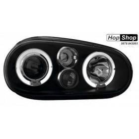 Кристални фарове  Angel Eyes GOLF IV R32  - черни от HopShop.Bg.