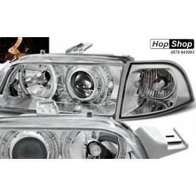 Кристални фарове FIAT PUNTO (93-99) - хром от HopShop.Bg.