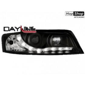 Кристални фарове  DAYLINE AUDI A4 (2001-2004) - черни от HopShop.Bg.