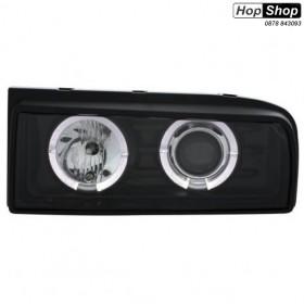 Кристални фарове с CCFL Angel Eyes VW CORRADO  - черни от HopShop.Bg.