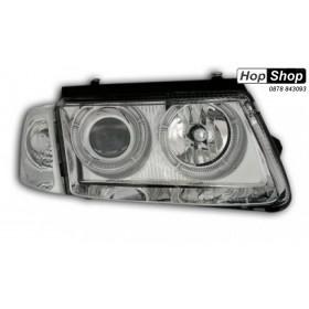 Кристални фарове  Angel Eyes VW PASSAT 3B/ B5 (1997-2000)  - хром от HopShop.Bg.