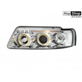 Кристални фарове  Angel Eyes VW PASSAT 3B/ B5 (97-00)  - хром от HopShop.Bg.