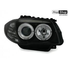 Кристални фарове за BMW E87 / E81 Angel Eyes (2004-2009) - черни от HopShop.Bg.