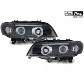 Кристални фарове  Angel Eyes BMW X5  (99-03) - черни от HopShop.Bg.