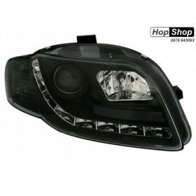Кристални фарове DAYLIGHTS AUDI A4 (2004-2008) -  черни от HopShop.Bg.