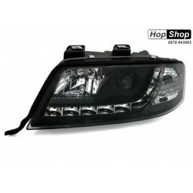 Кристални фарове Ауди А6 с дневни светлини (2001-2003) - черни от HopShop.Bg.