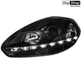 Кристални фарове FIAT Grande PUNTO (05+)  - черни от HopShop.Bg.