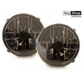 Кристални фарове с кръст GOLF II  (83-93) - черен хром вътрешни от HopShop.Bg.