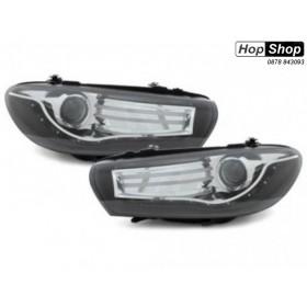 Кристални фарове с диоди VW SCIROCCO  (2008+) - черни от HopShop.Bg.