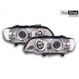Кристални фарове  Angel Eyes BMW X5  (99-03) - хром от HopShop.Bg.