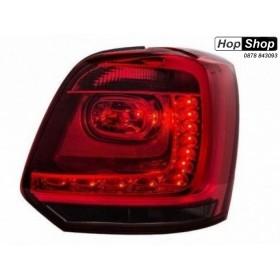 Кристални стопове  POLO 6R (2009+)  - червени с опушен мигач от HopShop.Bg.