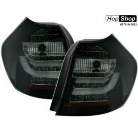 Диодни стопове със светловоди  BMW E87  (2004-2007) - черни от HopShop.Bg.