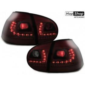 Кристални диодни стопове VW  GOLF V - червени от HopShop.Bg.