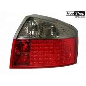 Диодни стопове  AUDI A4  (01-04) - червени / опушен хром от HopShop.Bg.