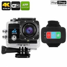 Спортна Екшън Камера с Wi-Fi, 60fps 4K Ultra HD - с дистанционно управление от HopShop.Bg.