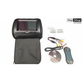 """7"""" DVD плеър в подглавник с USB и безжичен джойстик за видеоигри - черен от HopShop.Bg."""