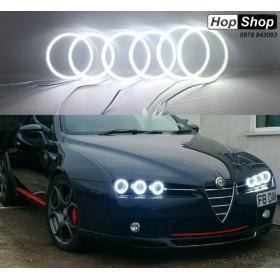Диодни Ангелски Очи Alfa Romeo 159 - Lightbar design матирани - бял от HopShop.Bg.